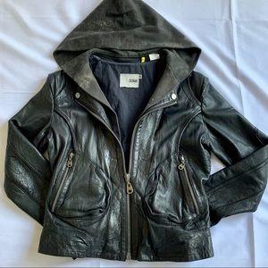DOMA black Moto Leather Jacket